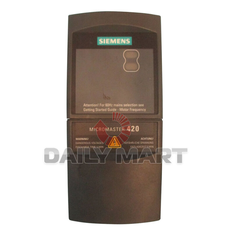 SIEMENS 6SE6420-2UD21-1AA1 MICROMASTER420 AC FREQUENCY INVERTER PLC MODULE NEW