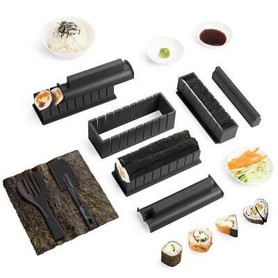 Virklyee Sushi Maker Kit 10 PCS DIY Set Making Tools 5 Nero