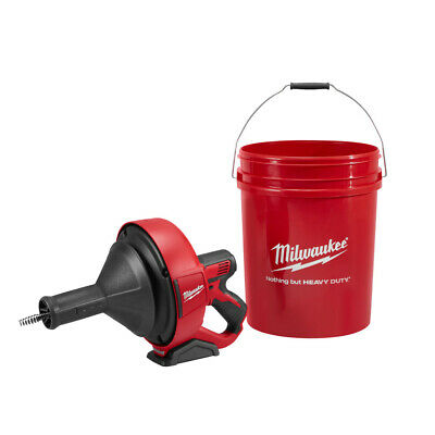 Milwaukee 2571-20 M12 Drain Snake 516 X 15 Bulb Cable Storage Bucket