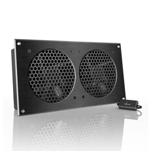 """AIRPLATE S7, Quiet Cabinet Fan 12"""" for Home Theater AV Amplifier Media Cooling"""