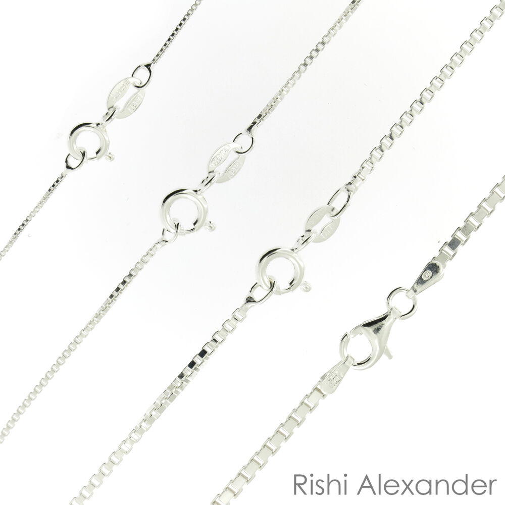 Jewellery - 925 Sterling Silver BOX Chain Necklace All Sizes Stamped .925 Italy