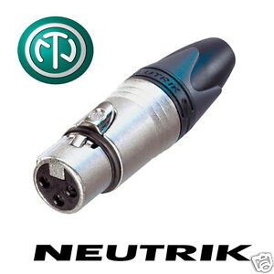 Neutrik XLR NC3FXX Silver Connector Female Plug