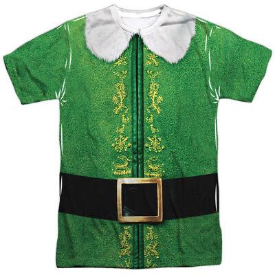 Elf Movie Christmas BUDDY COSTUME 1-Sided Big Print Poly T-Shirt (Elf Movie Costumes)