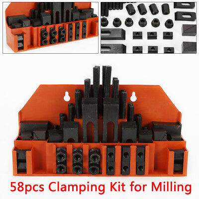 58xclamping Bolt M12-slot T Nut Hold Down Tool For Cnc Metal Milling Machine New