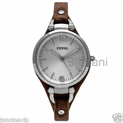 Fossil Original Es3060 Womens Georgia Brown Leather Watch 32Mm