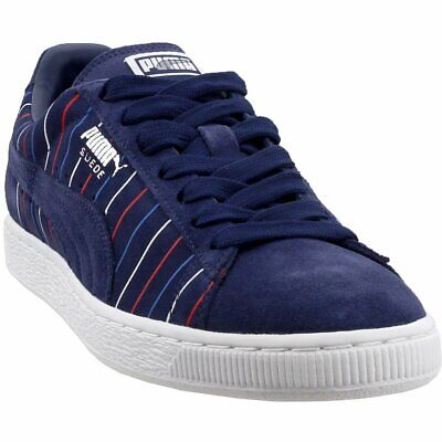 Puma Suede Striped Sneakers - Navy - Mens