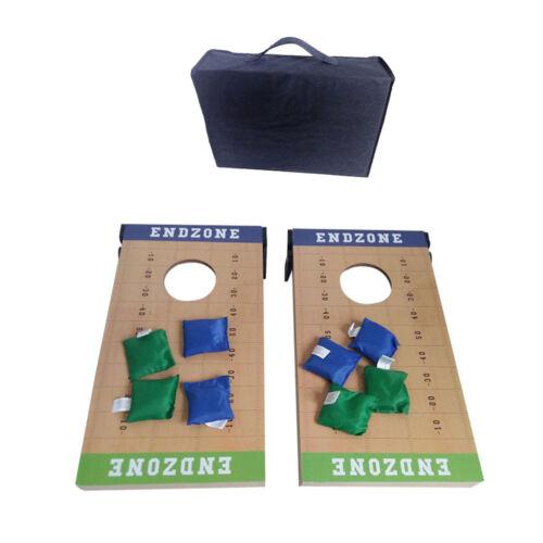 2 IN 1 Cornhole Bean Bag Toss Set Outdoor Party Game Set Wood Platform W/ Carry