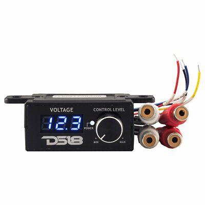 DS18 BKVR Universal Car Amp Volume Remote Bass Knob 12V Amplifier RCA Volt Meter