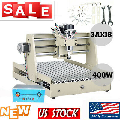 3 Axis 400w Cnc 3040 Router Engraving Machine Wood Metal Drill Mill 3d Cutter Us