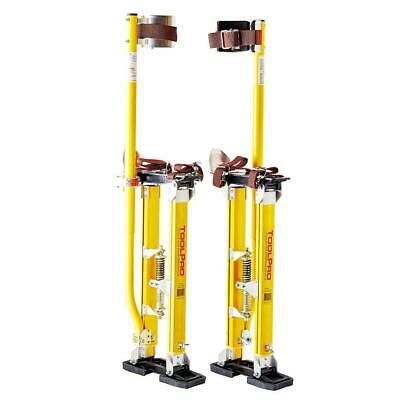 Toolpro Adjustable Drywall Stilts 24 In. - 40 In. Magnesium Padded Cuff