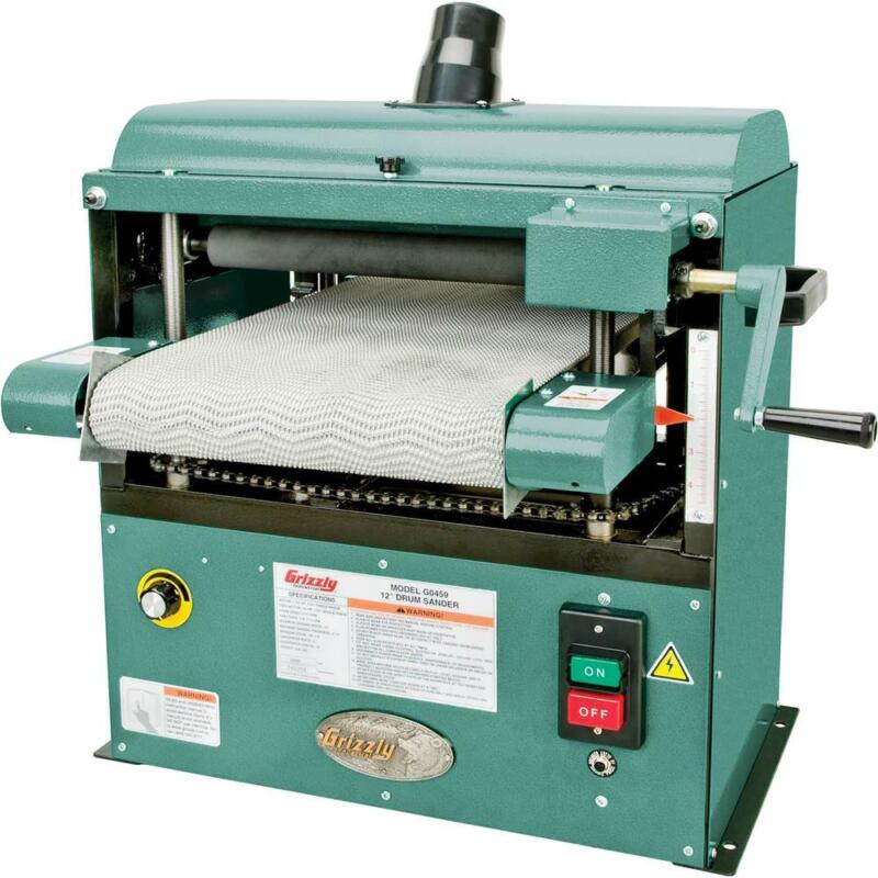 """Grizzly G0459 12"""" 1-1/2 HP Baby Drum Sander"""