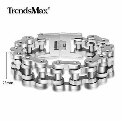 23mm Men 316L Stainless Steel Biker Motorcycle Chain Bracelet Heavy Duty Jewelry