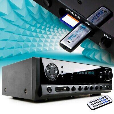Pa Amplificador Música USB Bluetooth Karaoke 100W Sonido Planta MP3 Aux Fm