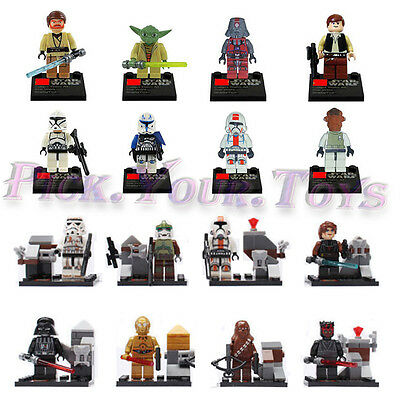 Lot Of 16 PCS Minifigure STAR WARS Clone War Troopers Darth Building Block Toys