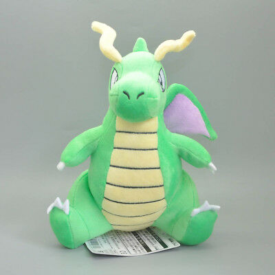 Pokemon Center Cute Green Shiny Dragonite 20CM Soft Best Gifts Plush Doll Figure