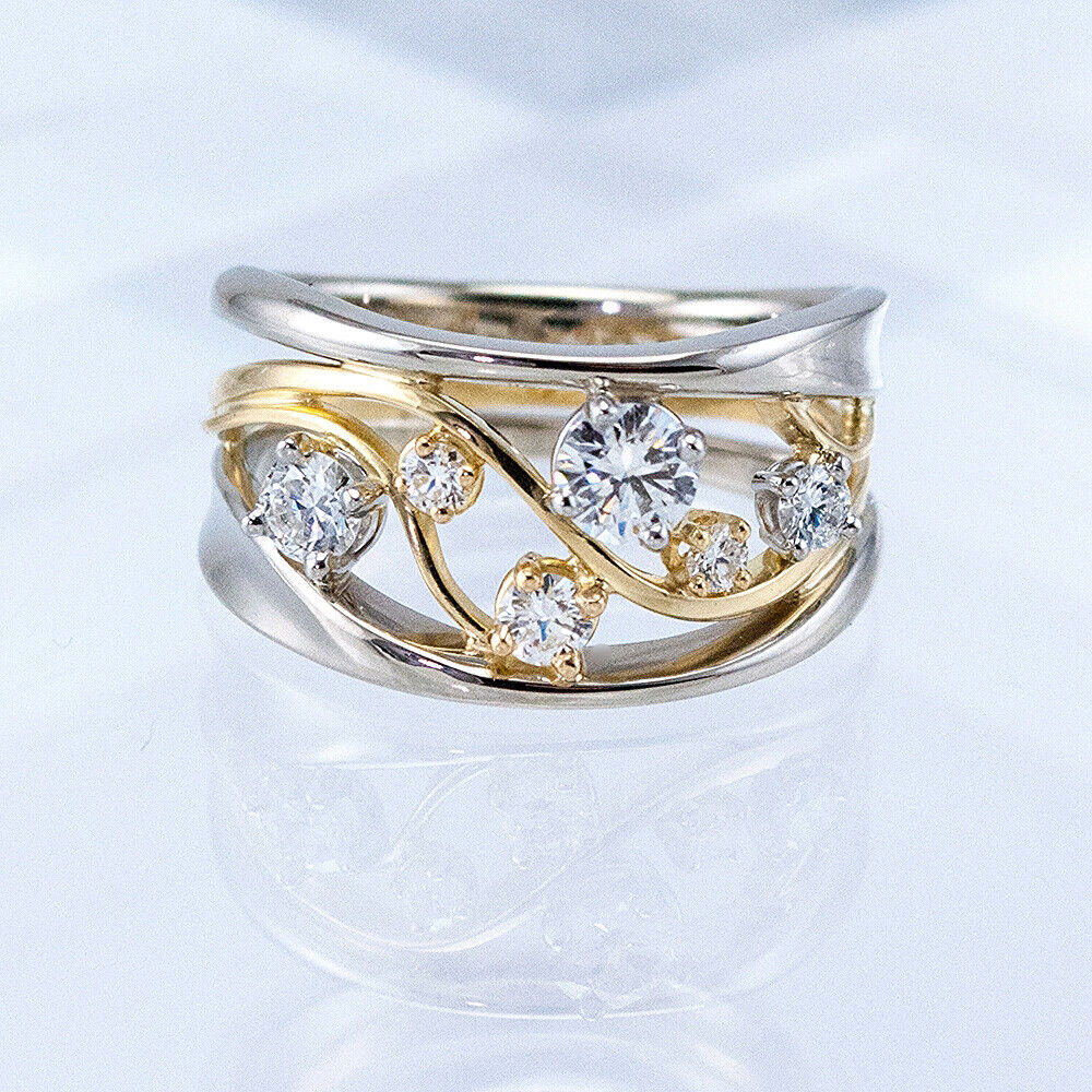 Jewellery - Fashion Two Tone 925 Silver Rings Women Jewelry White Sapphire Ring Size 6-10