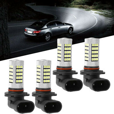 4Pcs 9005-HB3 & 9006-HB4 LED Headlight Bulb White Light 63-SMD 6000K Hi/Lo (Cadillac Eldorado Headlight Bulb)