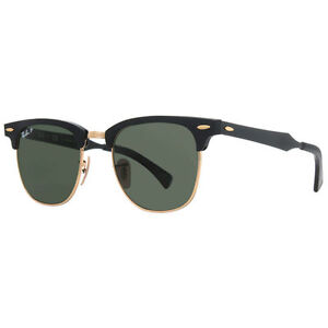 55b93fc596556 Ray-Ban Clubmaster Aluminum - Black Arista Frame Polar Green 51mm Polarized  Sunglasses