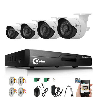XVIM 4CH CCTV Security Camera System HDMI HD 720P Outdoor Video Surveillance DVR