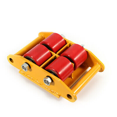 6t13200lb Machinery Mover Transport Dolly Skate Roller Heavy Duty 360 Rotation