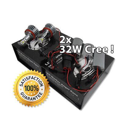 2x 32W CREE LED STANDLICHT RING RINGE H8 MARKER ANGEL EYES BMW E60 E61 E63 F01, gebraucht gebraucht kaufen  Blankensee