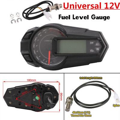 2018 Universal 12V Motorcycle LCD Digital Gauge Speedo/Tacho/Odo Meter Km/h