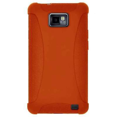 AMZER Silicone Soft Skin Case Cover for Samsung Galaxy S2 I777 I9100 - Orange for sale  Shipping to India