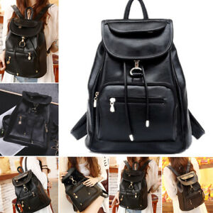 0d4a8e7e391b UK Womens Leather Backpack School Rucksack College Shoulder Satchel Travel  Bags
