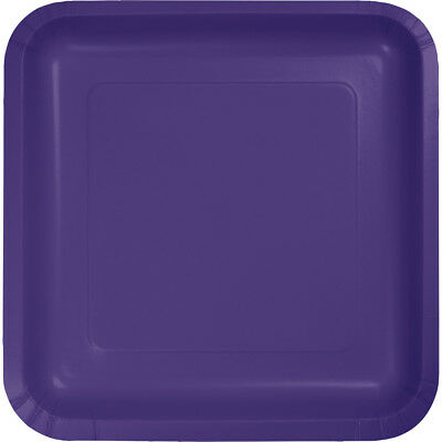 Purple 9 Square Paper - (36 Pack) Purple Square 9-inch Paper Plates Wedding Birthday Shower Party