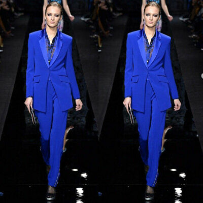 - Womens Royal Blue Formal Pants Suits for Weddings Tuxedo Business Office Suits