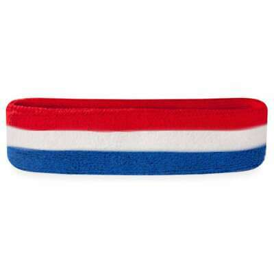 red white and blue head sweatbands