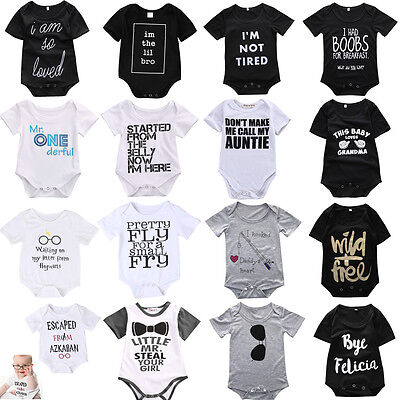 Newborn Infant Kids Baby Boy Girl Romper Bodysuit Jumpsuit Clothes Outfits Lots