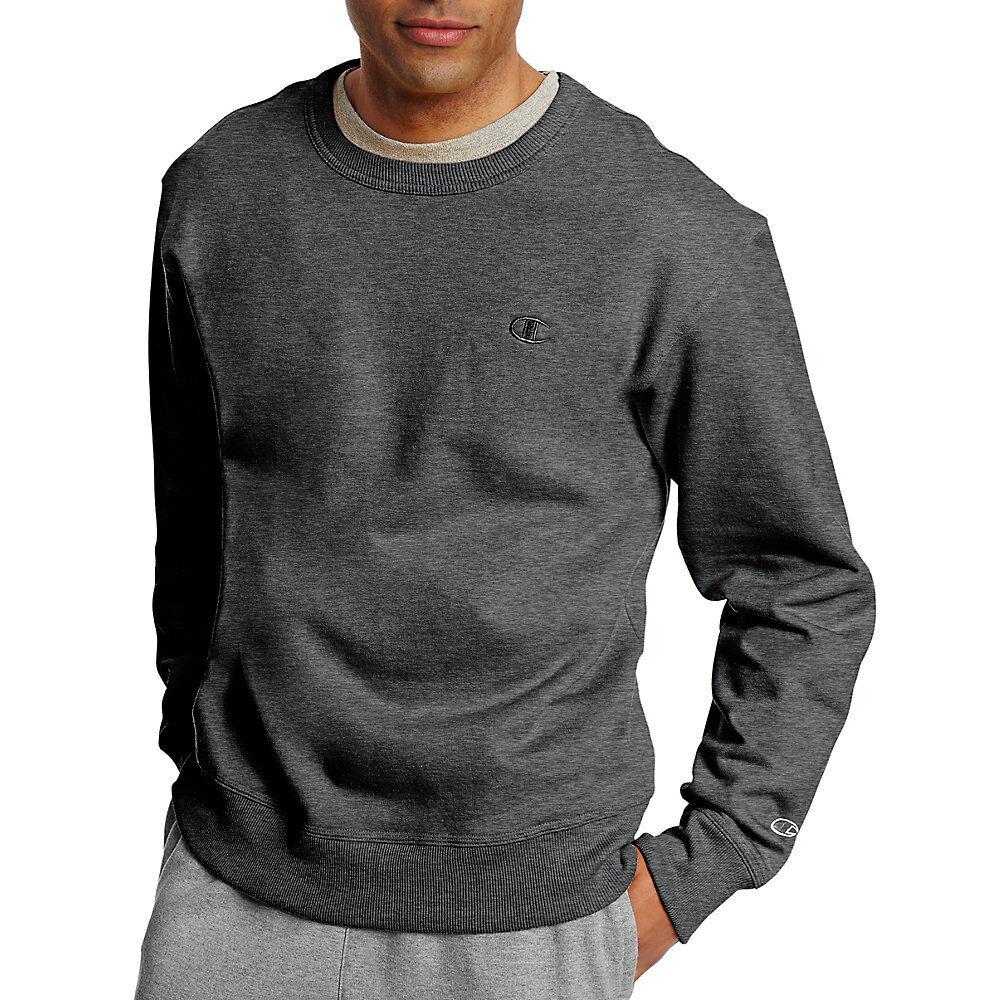 Champion Mens Powerblend Fleece Pullover Hoodie Granite Heather 3XL