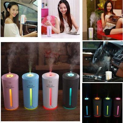 LED Ultrasonic Aroma Diffuser USB Car Home Air Purifier Essential Oil Humidifier