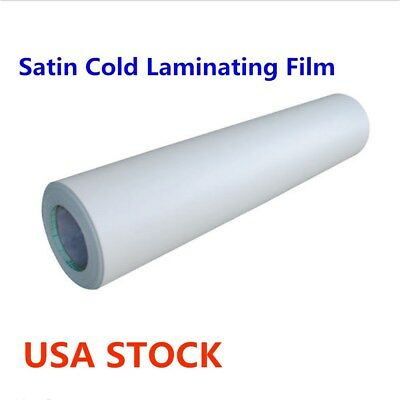 Usa - 60 X 50 Yard Roll Satin Cold Laminating Film Paper Adhesive Glue