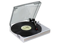 Jago Vinyl Record Player USB Turntable with Built-in Speakers (ex.cond.)