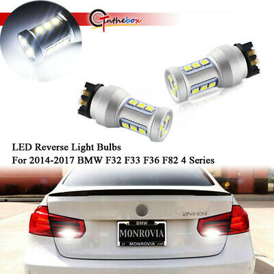 Bright White LED Reverse Light Bulbs For 2014-2017 BMW F32 F33 F36 F82 4 Series