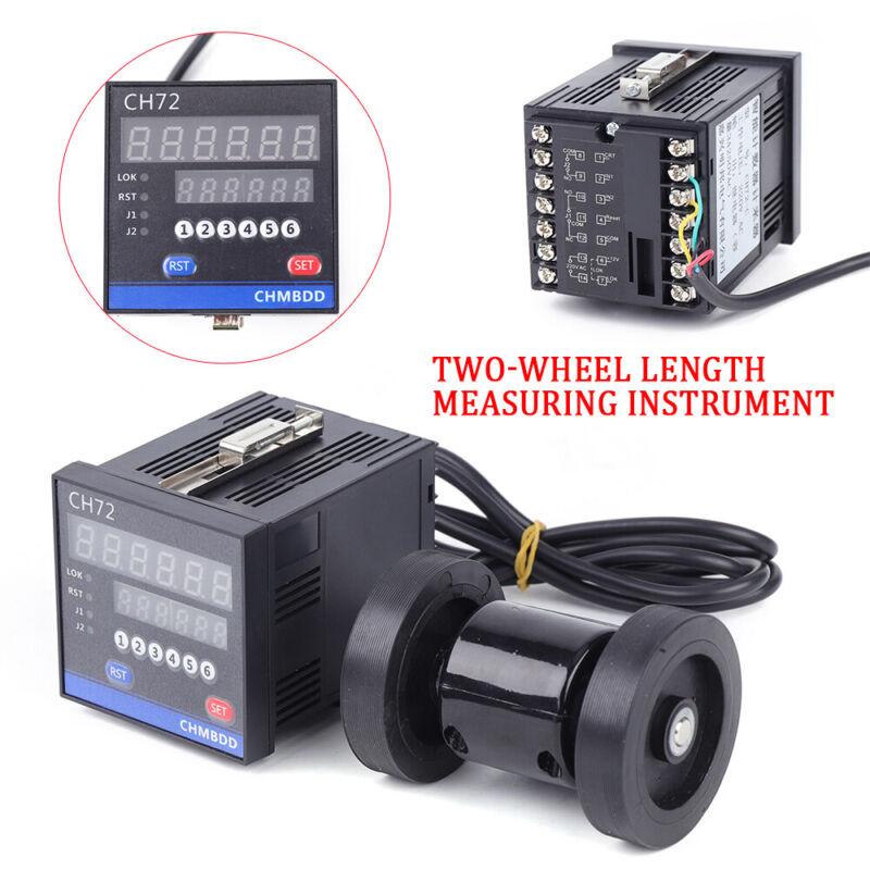 Electronic Digital Length Meter Counter Wheel Roll Measuring Equipment 2-Wheel
