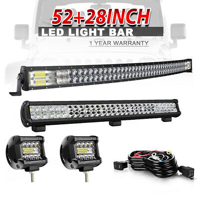 52inch 300W Curved LED Work Light Bar+28