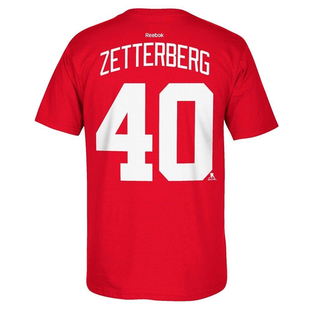 NEW REEBOK PREMIER HENRIK ZETTERBERG DETROIT RED WINGS T-SHIRT SMALL