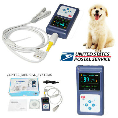 Veterinary SpO2 PR monitor Animal pet Pulse Oximeter+ ear/Tongue probe+ Software for sale  Elk Grove Village