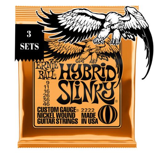 Ernie Ball 3-pk Hybrid Slinky Electric Guitar Strings Cuerdas de Guitarra