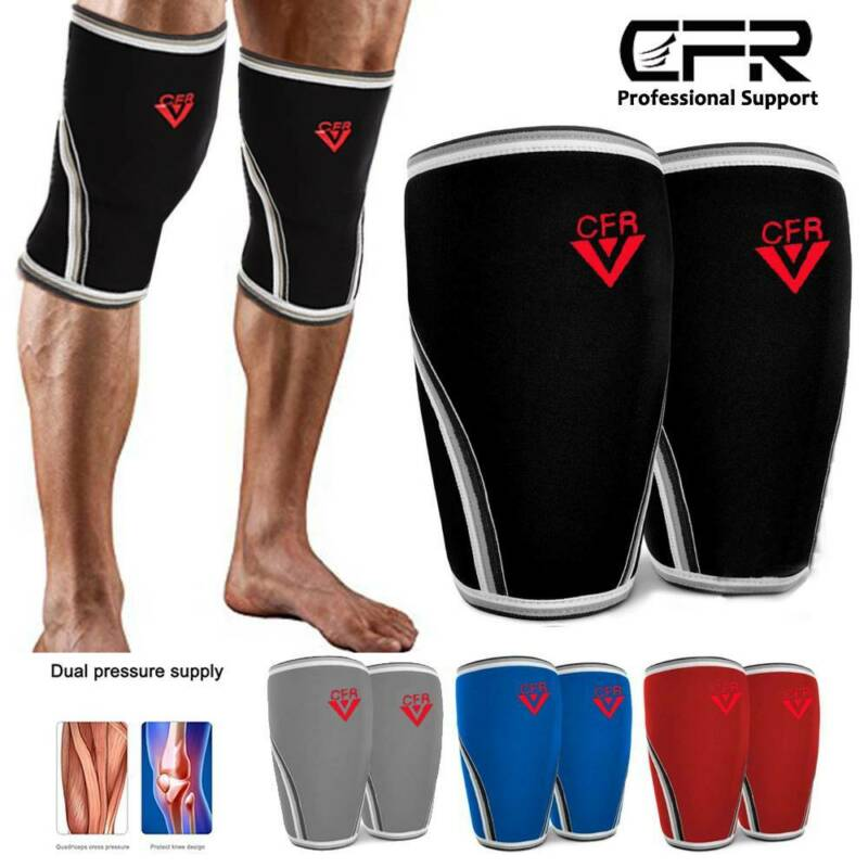 Knee Sleeves Support Compression Weightlifting 7mm Neoprene