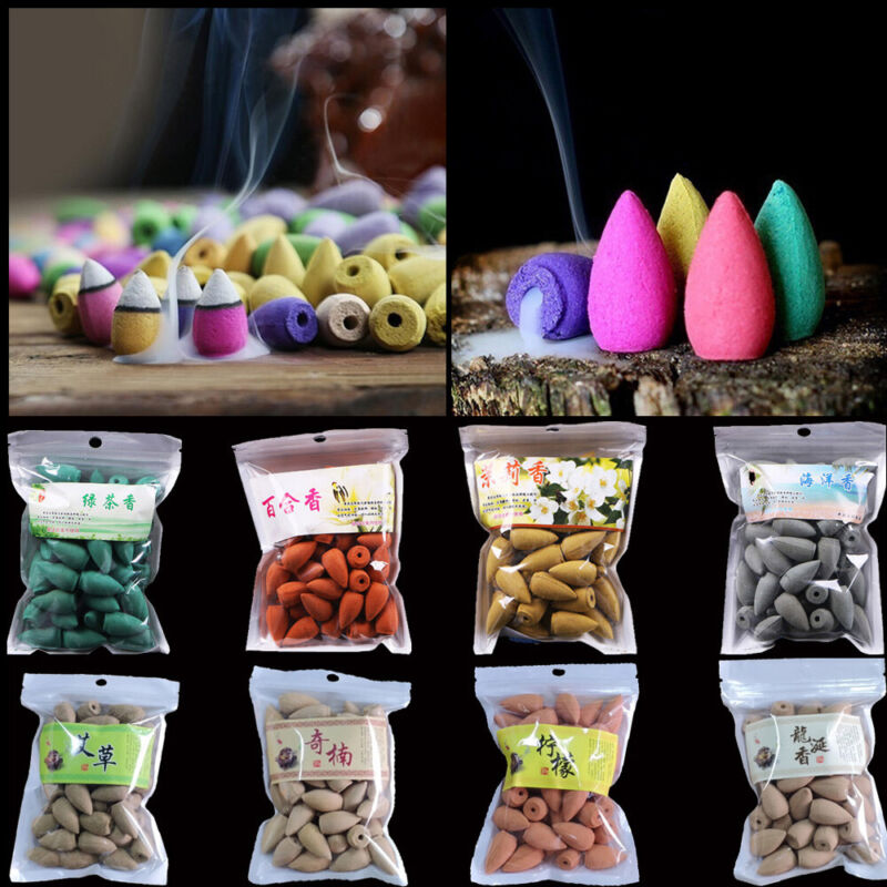 Tower Shape Backflow Incense  Reflux Smoke Natural Aroma Cones Incense