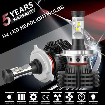 H4 9003 LED Headlight Kit Bulbs Cool White 6500K 1300W 195000LM High Power Lamps