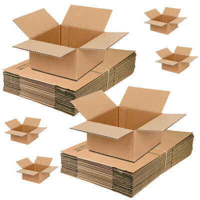 10 x Heavy Duty Medium Cardboard Boxes 12 x 9 x 9 Inch for Moving House Packing