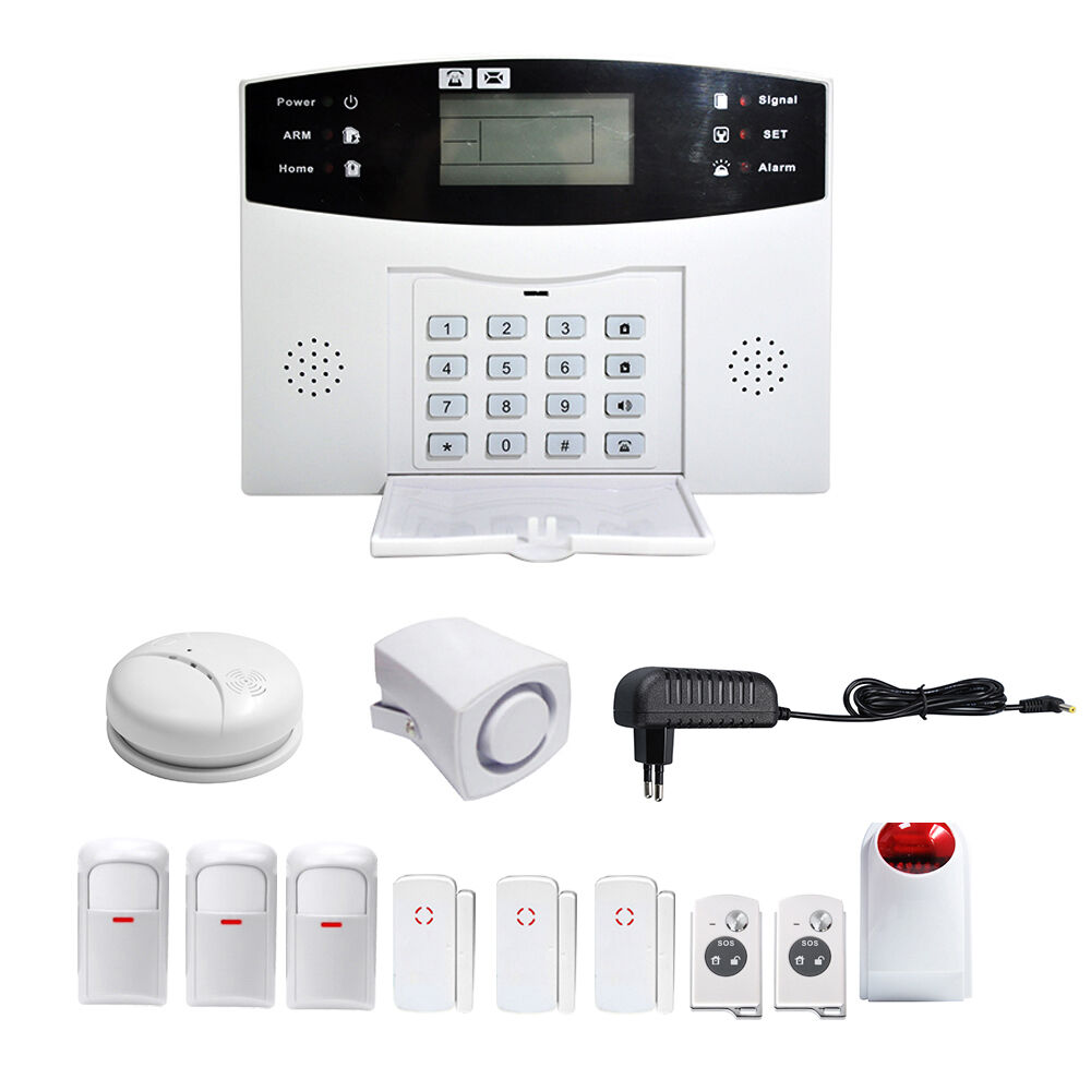 gsm funk alarmanlage haus sicherheit led alarmsystem sms. Black Bedroom Furniture Sets. Home Design Ideas