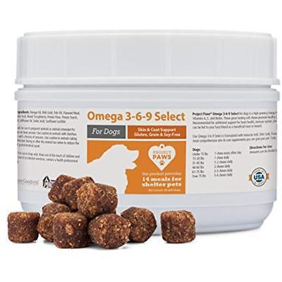 Omega 3-6-9 Select Fish Oil for Dogs - Krill Oil Skin and Coat Supplement 60 (Omega 3 6 9 Supplement For Dogs)