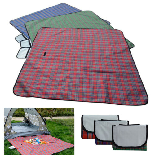 "79""x59"" Waterproof Picnic Mat Blanket Pad Outdoor Folding Ca"