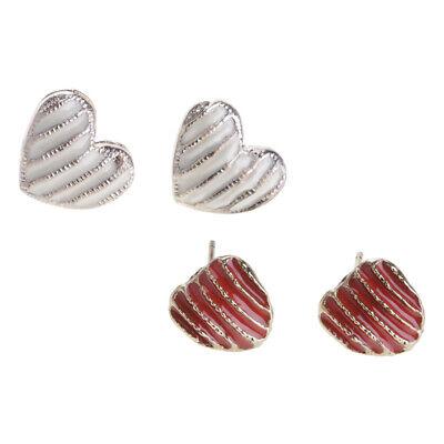 Herzform Ohrringe Legierung Material Mode Niedlich Mini Kleidung Accessoires